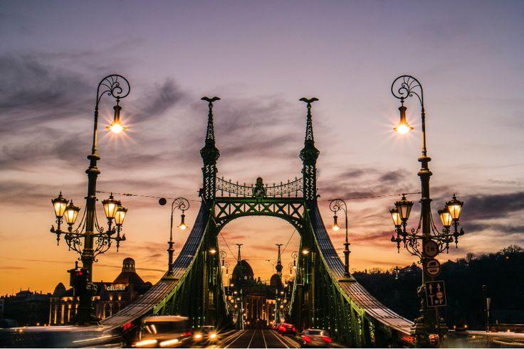 Golden Hour at the Liberty-bridge (originally named Franz Joseph Bridge) :: photo by Riccsi (Richárd Sárközi)