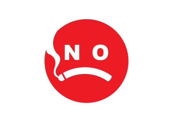 No smoking--don't smoke. It ruins your health, your looks and your smile.