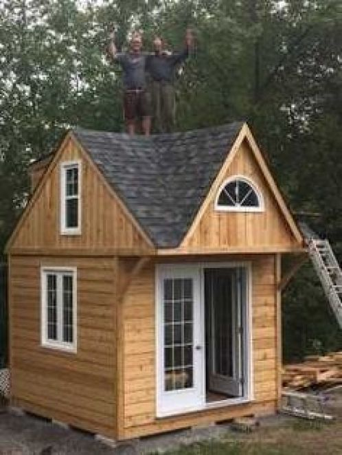 10x10 Office Layout: Unstained 10x10 Cottage #howtobuildashed In 2020