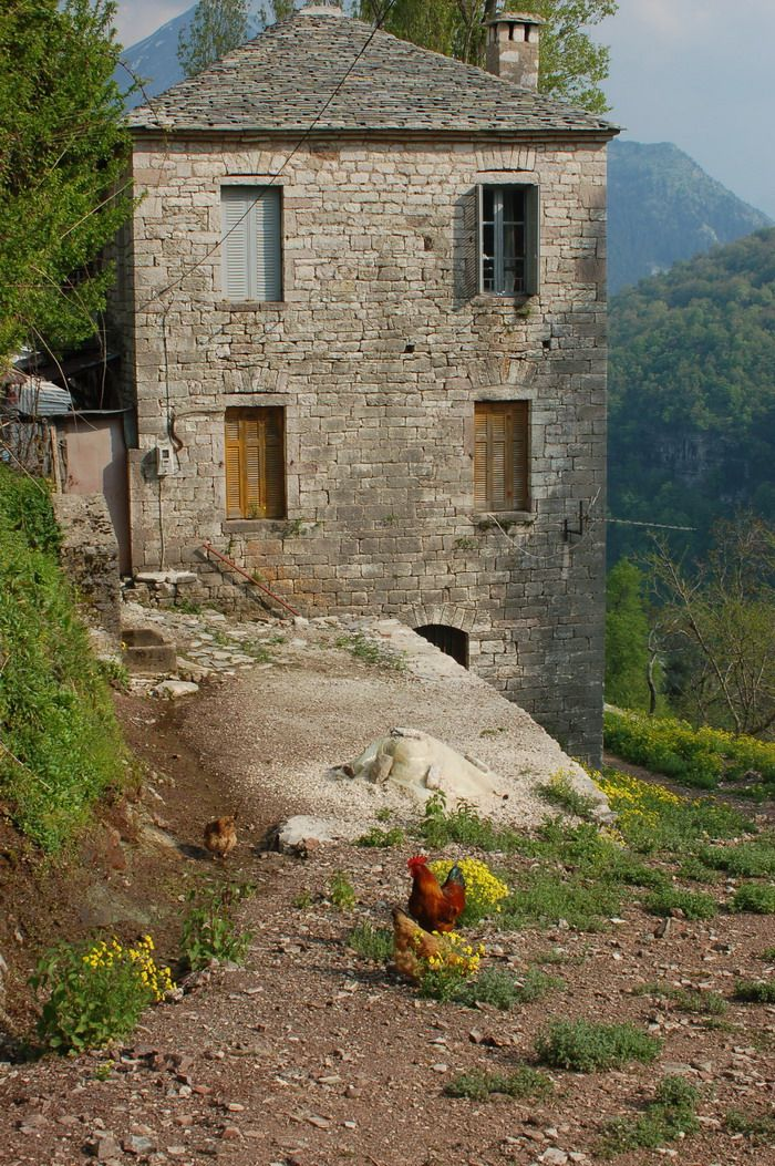 Stonehouse in Kalarrytes village in Epirus