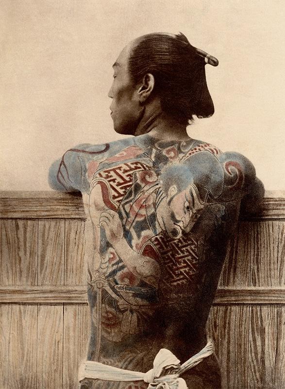 Paysan tatoué - Kusakabe Kimbei