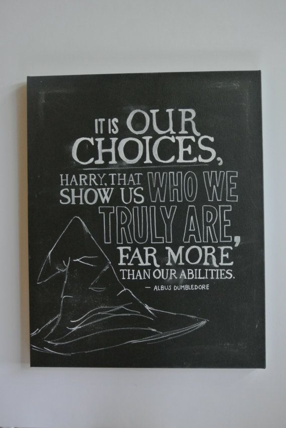 Chalkboard Canvas Art: It Is Our Choices by nicolehragyil on Etsy