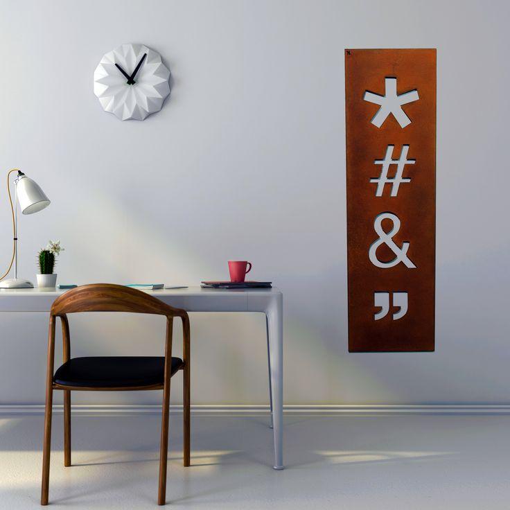"#niklasteeldesign #icon #ornamenti #interiordesign #metaldecor #quadri #arredidesign #lasercut #corten  Quadro in metallo ICONS by NIKLA. * # & """