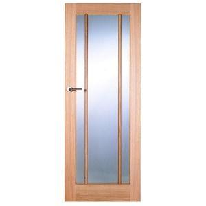 Wickes York Fully Glazed Oak 3 Panel Internal Door