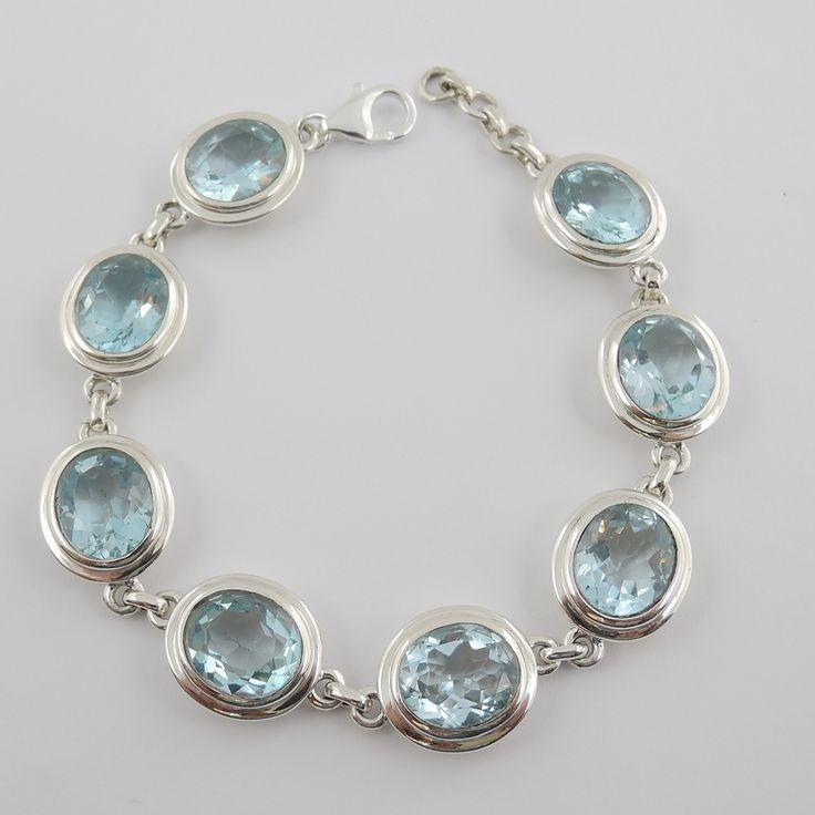 Armband Silber mit Blautopas