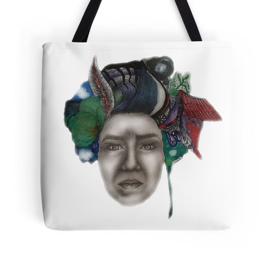 On My Mind artwork by me printed on tote bags. High qulaity print. Great gift idea. Take a Look !! :)  #art #print #totebag #bag #accessory #colourful #drawing #painting #gift #idea #gifts