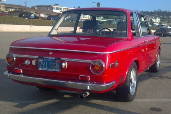 1971 BMW 2002 Red For Sale Rear