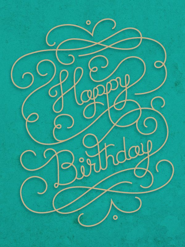 Happy birthday calligraphy font imgkid the