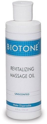 Biotone Revitalizing Unscented Massage Oil 8 Ounce