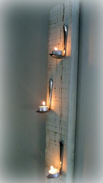 Tea Light Spoon Wall Art