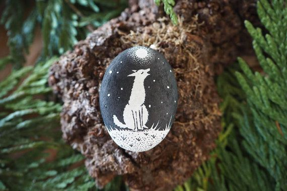 stone  coyote  a song to the night by littlevagaries on Etsy