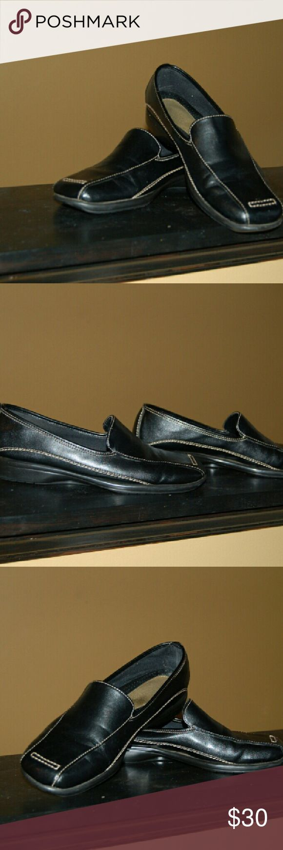 Black Leather Flats Great for walking and driving AEROSOLES Shoes Flats & Loafers