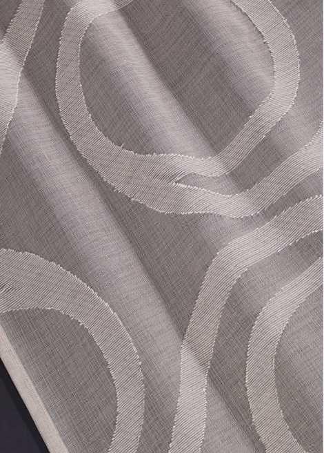 Jetzt anschauen: Transparente Gardine, Musterung durch Ausbrenner-Verfahren hergestellt, modernes Design, Aufhängung mit Kräuselband oder Metallösen, Maße=Stoffmaße, waschbar und pflegeleicht.