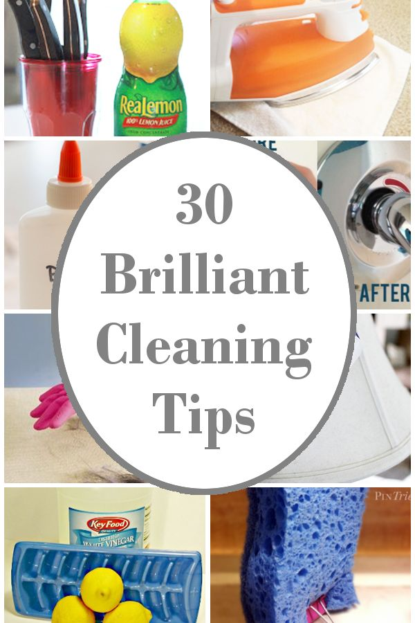 diy home sweet home: 30 Brilliant Cleaning Tips