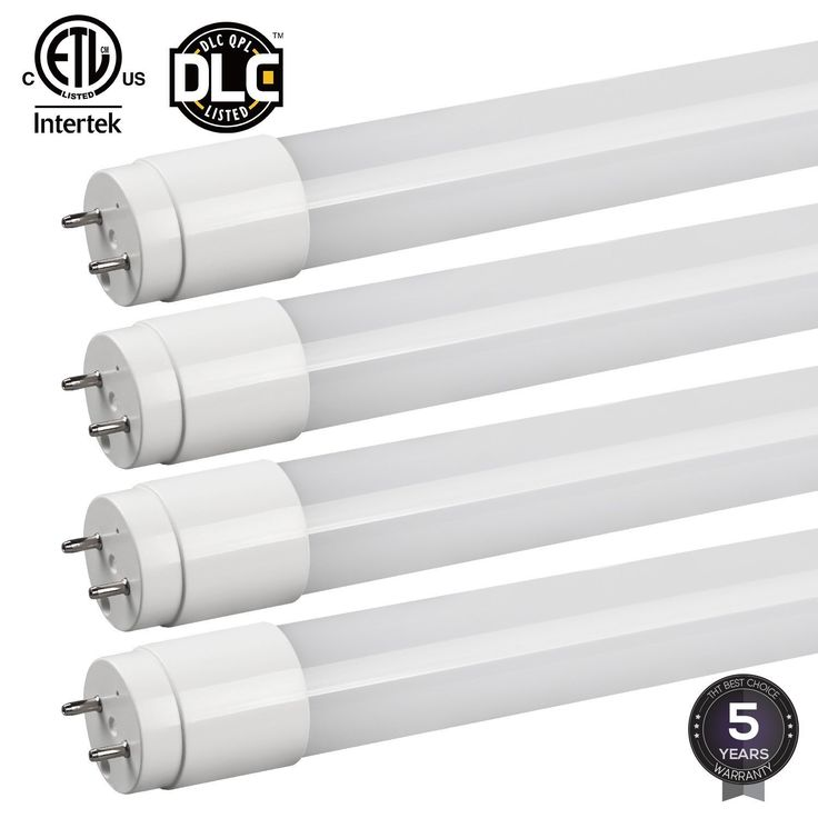 T8 LED Linear Light Tube,2340lm,Work With Ballast,Daylight 5000K,Pack of 4/12 (4 pack-5000k)