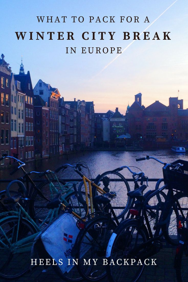 What To Pack For A Winter City Break In Europe. Ultimate tips for packing for a winter city break in #Europe, based on my recent trip to Amsterdam! Solving winter travel fashion dilemmas!
