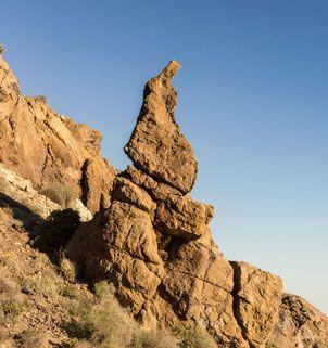 Stone of Nazarene - seen along the La Mena Macenas walking trail of Mojacar