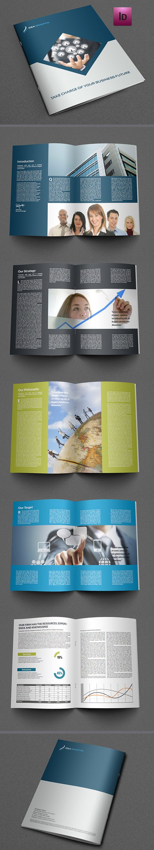 Best Folder Images On   Brochures Flyer Design And