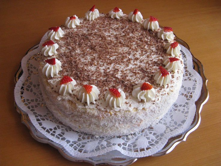 Jemný tvarohový dort.