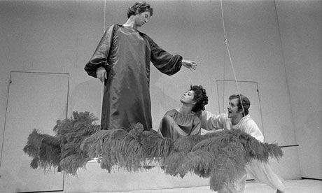 Peter Brook's acrobatic 1970 production of A Midsummer Night's Dream - His 1970 RSC production of Shakespeare's play featured circus trapezes, stilts and plate-spinning – & changed theatre history for good. In an extract from his new book, Peter Brook explains how this most seductive of Dreams came alive. (I saw this production twice when the RSC came to Toronto & it was the high point of my my theatre viewing experience)