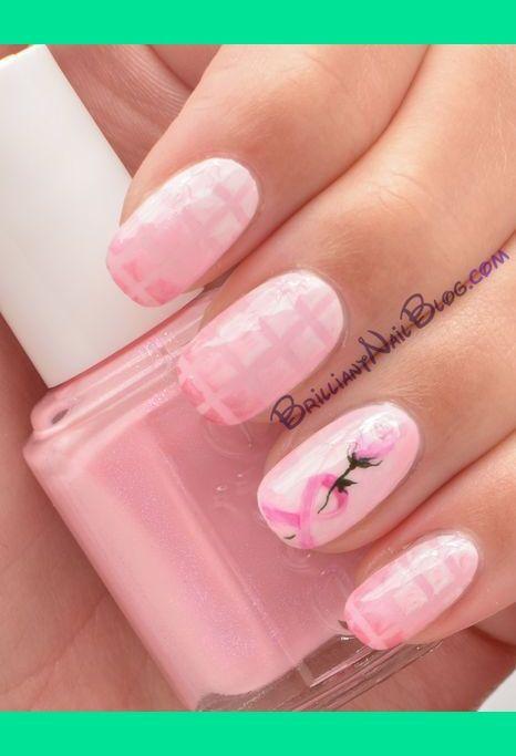 Breast Cancer Awareness Nail Art | BrilliantNail F.'s Photo | Beautylish