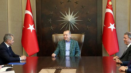 Turkish President Erdogan meets Russia's defense minister in Istanbul  https://tmbw.news/turkish-president-erdogan-meets-russias-defense-minister-in-istanbul  Published time: 2 Jul, 2017 14:59Turkey's president, Recep Tayyip Erdogan, has received Russian Defense Minister Sergey Shoigu in Istanbul, the Turkish presidential press service said in a statement.The meeting took place in Istanbul's Tarabya Presidential Residence, the press office said .READ MORE: Russia lifts travel restrictions on…