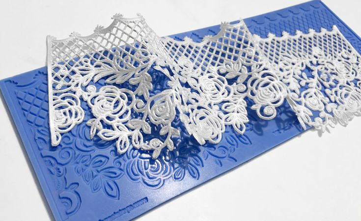 Mademoiselle silicone lace mould for beautiful edible lace by Crystal Candy