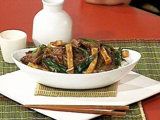 Carne vacuna y vegetales al wok en salsa agridulce