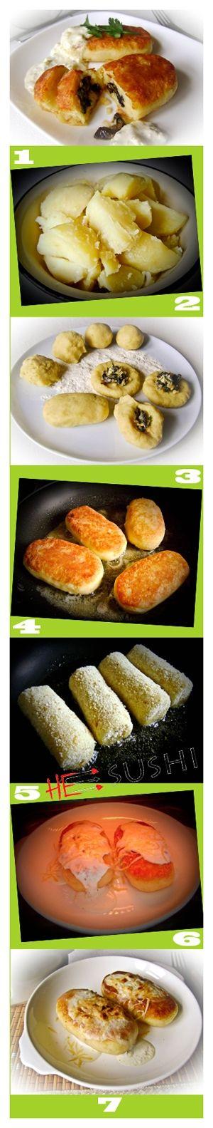 Картофельные зразы с грибами и другими начинками из овощей - актуальные рецепты для постных дней. Вкусно, сытно, разнообразно :-)