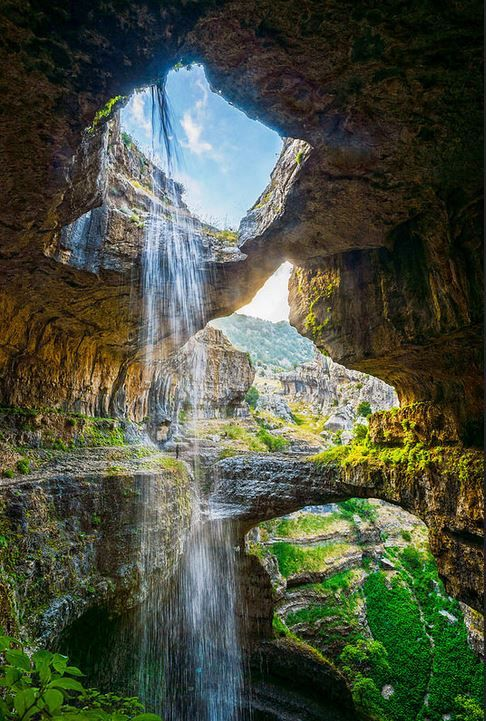 These Three Cave Bridges In Lebanon Create The Most Stunning Waterfall 0 - https://www.facebook.com/diplyofficial