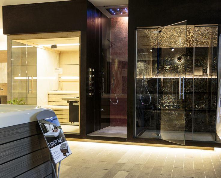Ambiente Azul's Showroom: Sauna Finlandesa+Ducha de sensaciones+Hammam