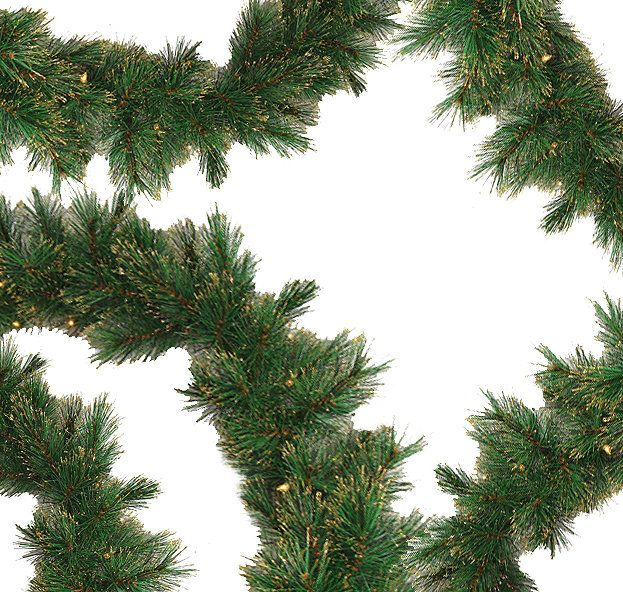 Taittinger Long Needle Pine Artificial Christmas Garland with Lights