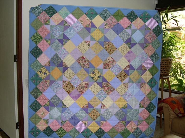 One of my first quilts and my first hand quilted one