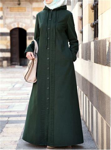 Hooded Jilbab with Pleats