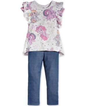 My Little Pony 2-Pc. Shirt & Leggings Set, Toddler & Little Girls (2T-6X) - Gray 3T