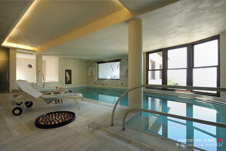 Swimming Pools _ indoor   boutique hotel   spa Pelion   renovation   reuse   construction   interior design _ visit us at: www.philippitzis.gr