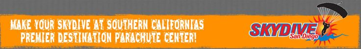SkyDive San Diego » Make your SkyDive at Southern California's premier parachute destination » http://SkyDiveSanDiego.com