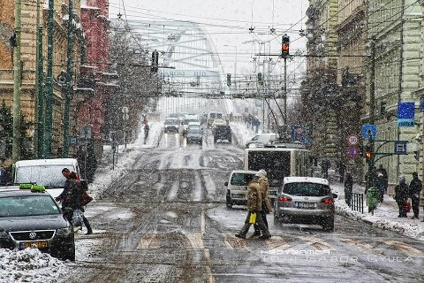 Winter in Szeged, Hungary