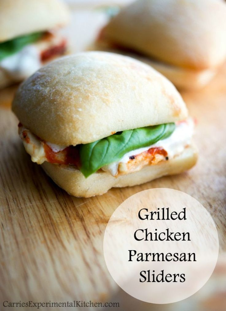 Grilled Chicken Parmesan Sliders Quick Easy