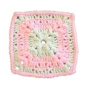 Crochet Kernel Stitch : 99 - Kernel Stitch Granny Square - A Crochet pattern from jpfun.com