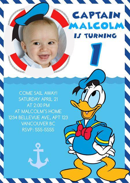 Donald Duck Birthday Invitations / Birthday by BerryliciousDesign, $9.99
