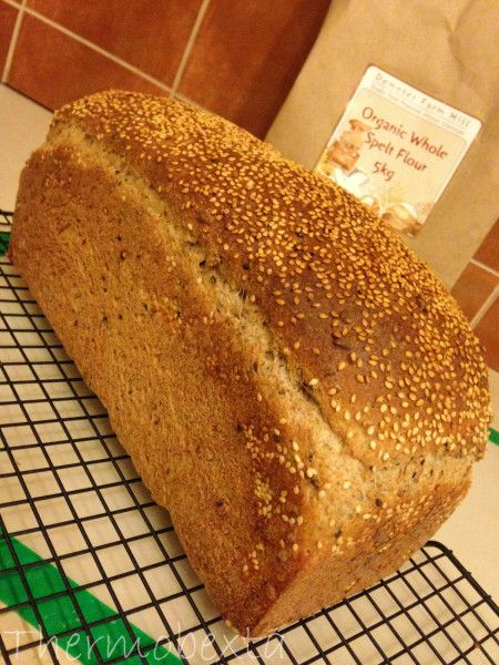 Super seeded wholemeal spelt bread
