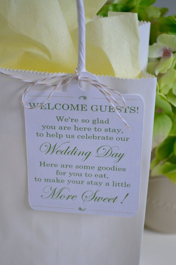 25 Welcome Bag Tags Wedding Thank You by JRoDecorAndMore on Etsy                                                                                                                                                                                 More