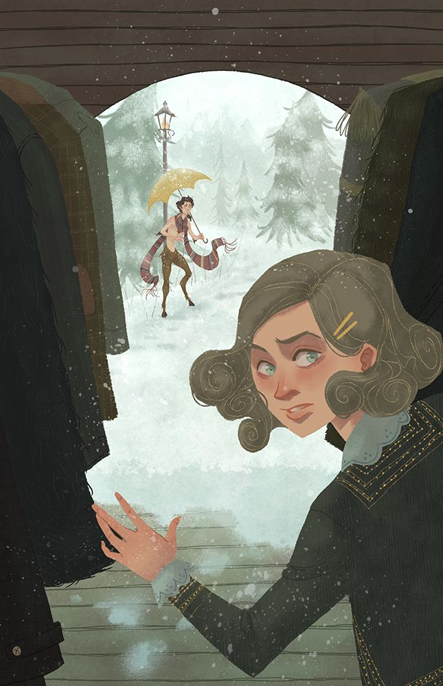 Poster illustration for Zion Theater Company's production of The Lion, The Witch, and The Wardrobe by C.S. Lewis.