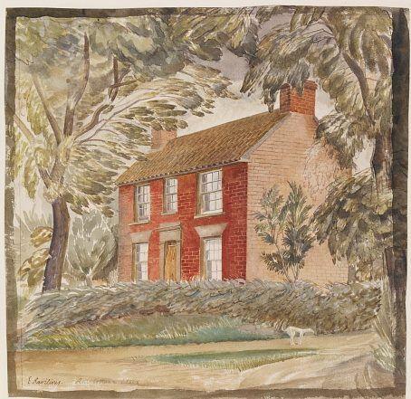 'The Red Cottage' by Eric Ravilious, 1927 (watercolour over graphite)