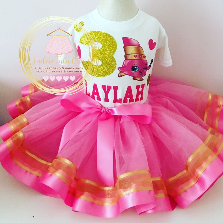 A personal favorite from my Etsy shop https://www.etsy.com/ca/listing/267075348/shopkins-birthday-outfit-shopkins-pink