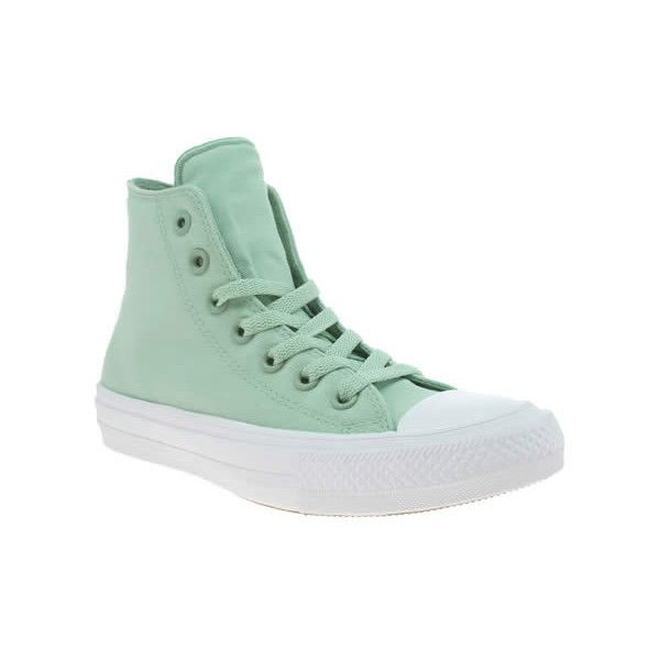 Converse Turquoise Chuck Taylor Ii Hi Neon Trainers ($79) ❤ liked on Polyvore featuring shoes, sneakers, turquoise, converse footwear, converse shoes, elastic shoes, neon shoes and turquoise blue shoes