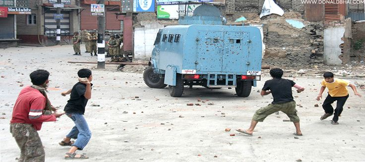 Stone pelting by youth in Kashmir is a perfect example of brainwash – DonaldBhai