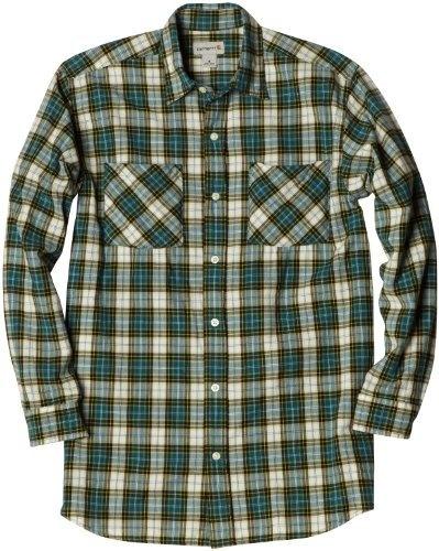 Carhartt Men's Long-Sleeve Light Weight Plaid Shirt, Teal Blue, XX-Large Regular Carhartt, http://www.amazon.com/dp/B005444T6I/ref=cm_sw_r_pi_dp_ftxYpb114S0W8