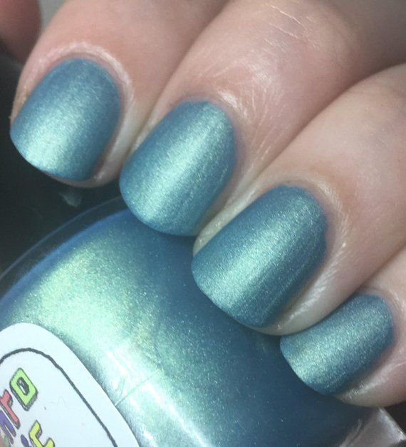 Rules of Acquisition Nail Polish – matte brilliant metallic blue-green